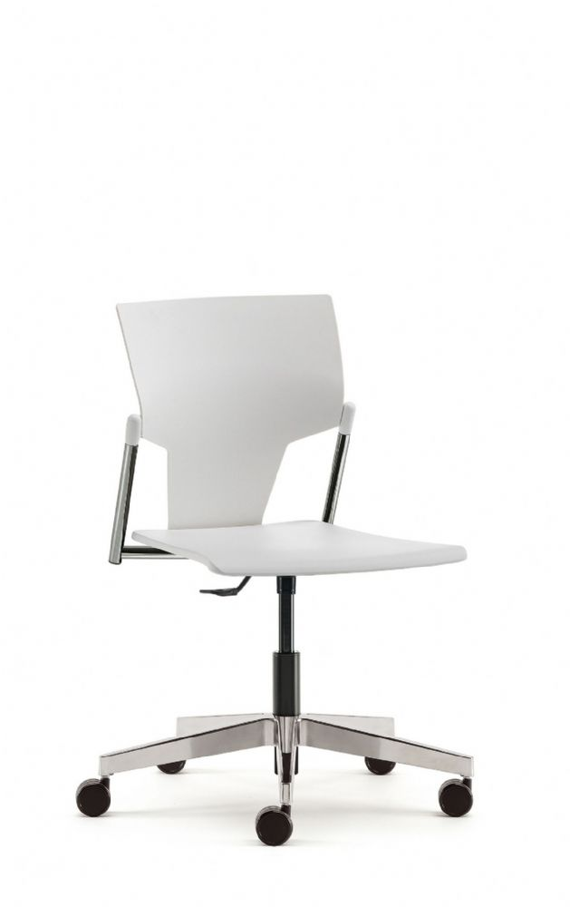 Pledge Ikon Chair With Plastic Seat And Back Including Swivel Mechanism. Optional Arms